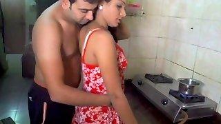 Husband licking wifey