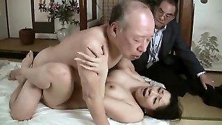 Hard-core grandpa fucks young babe