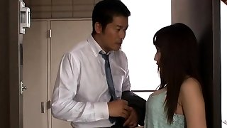 Seductive Japanese milf Kaho Kasumi gives hard-core blowjob