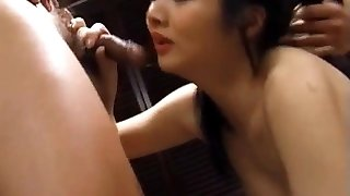 Maya licked and fucked with massager and fuck-stick