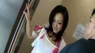 Shy Splashing Japanese Mom