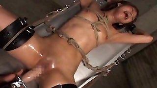 Japanese restrain bondage fucking machine