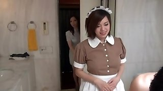 Sexy Oriental Maid in glamour motel scene