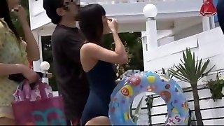 Exotic Japanese slut Ren Azumi, Yumemi Nakagawa in Crazy Rubdown, Outdoor JAV vid