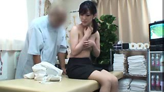 Bashing Oriental babe with a splendid ass gets pleased by