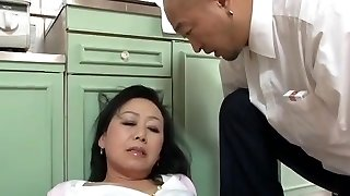 Elderly Japanese mother Craves sonny's ally Dick (Censored)