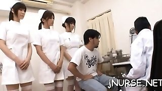Cool nurse rides patient's large dinky passionately