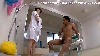 Exotic Asian whore Saki Izumi, Yuka Hashimoto, Yuki Natsume in Finest Nurse, Showers JAV flick