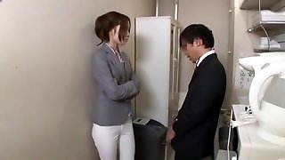 Best Japanese model Chiharu Nakai in Crazy Cuni, Office JAV flick