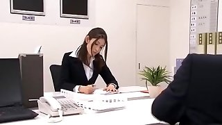 Extraordinaire Japanese model Maomi Nagasawa, Yuria Sonoda, Meisa Asagiri in Greatest Office, Hairy JAV clip