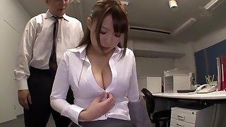 Fabulous Japanese doll in Super-naughty Secretary, Big Tits JAV scene