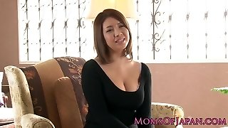 Mature japanese mummy toyed and throatfucked