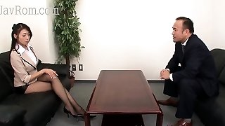 Japanese Pantyhose ultra-cutie with big tits gets a jizz flow