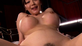 Busty Japanese Miho Ichiki pov pink cigar rail