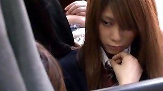 Insane Japanese damsel Nachi Sakaki, Miho Tachibana, Rica Aiba in Crazy Gf JAV movie