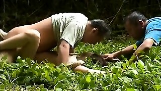 Chinese MILF fucked in hairy clit