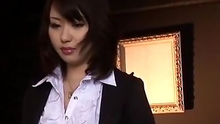 Hottest Japanese chick Mona Asamiya in Exotic Dp/Futa-ana, Tights/Pansuto JAV scene