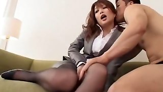 Exotic Japanese girl Akari Hoshino in Outstanding Stocking/Pansuto, Fingering JAV pin