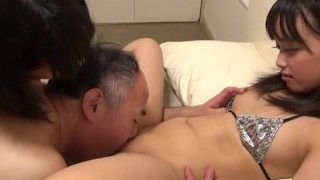 Shaved Japanese Threesome