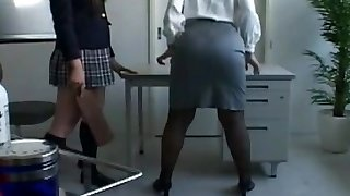 Asian Schoolgirl Makes Teacher Lezzie Pet Part 9