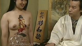 Fun With Tattooed Asian Hoe