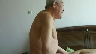 Epic asian aged people having great sex
