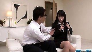Kotomi Asakura feels vibrator violating down her cherry