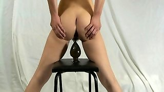 Elmer wife self anal destruction with gigantic dildo