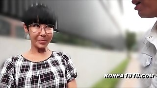 Ugly Korean Milf with Glasses in Japan