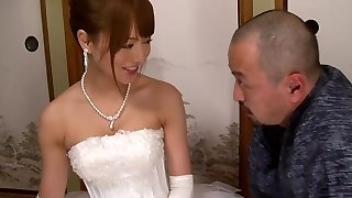 Akiho Yoshizawa in Bride Pulverized by her Daddy in Law part 2.2