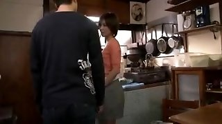 Chinese housewife  cougar seduces son's friends - 1
