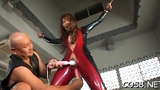 Oriental gets nasty with one-spotted monster in cosplay sequences