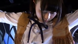 Chinese amateur in maid uniform