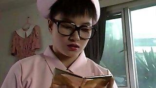 nerdy nurse hitomi kudo glasses finger-tickling masterbating