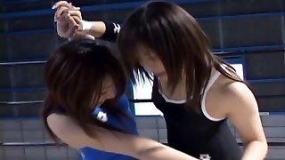 Asian Babes Wrestling