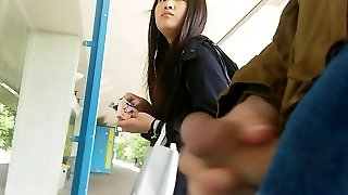 asian girl takes a glance