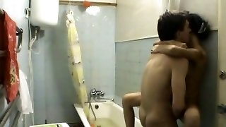 Amateur petite asian kazakh teen chick and Russian guy pt2