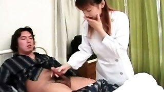 Japanese nurse jerking off