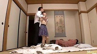 Housewife Yuu Kawakami Fucked Hard While Another Stud Observes