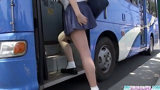 Student Yuna asian oral pleasure and public fuck