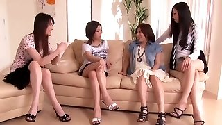 Japanese Penis Shared by Gang of Wild Women 1