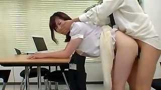 Greatest Japanese chick Chisato Ayukawa in Ultra-kinky Office, Hairy JAV scene