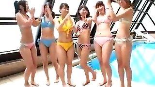 Japanese - teenies pool party