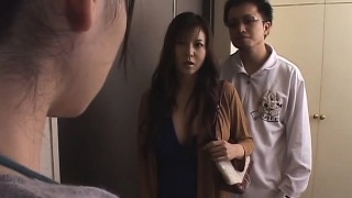 Asian wife violated front of husband