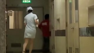 Crazy Japanese bottom sharking for the polyclinic nurse