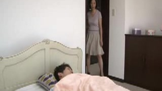 asian mother is caught by young