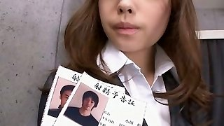 Office teenage Aiko Hirose shave cooter creamed
