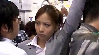 Crazy Japanese slut Minami Ayase, Leo Saionji, Remi Sasaki in Horny Public, Close-up JAV pin