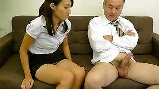 Anna Takizawa in Anna Takizawa is getting to know her elder playmate from work - AviDolz