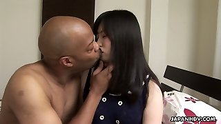 Super-cute Japanese doll Riko Kashii takes strong black cock into her Chinese pussy